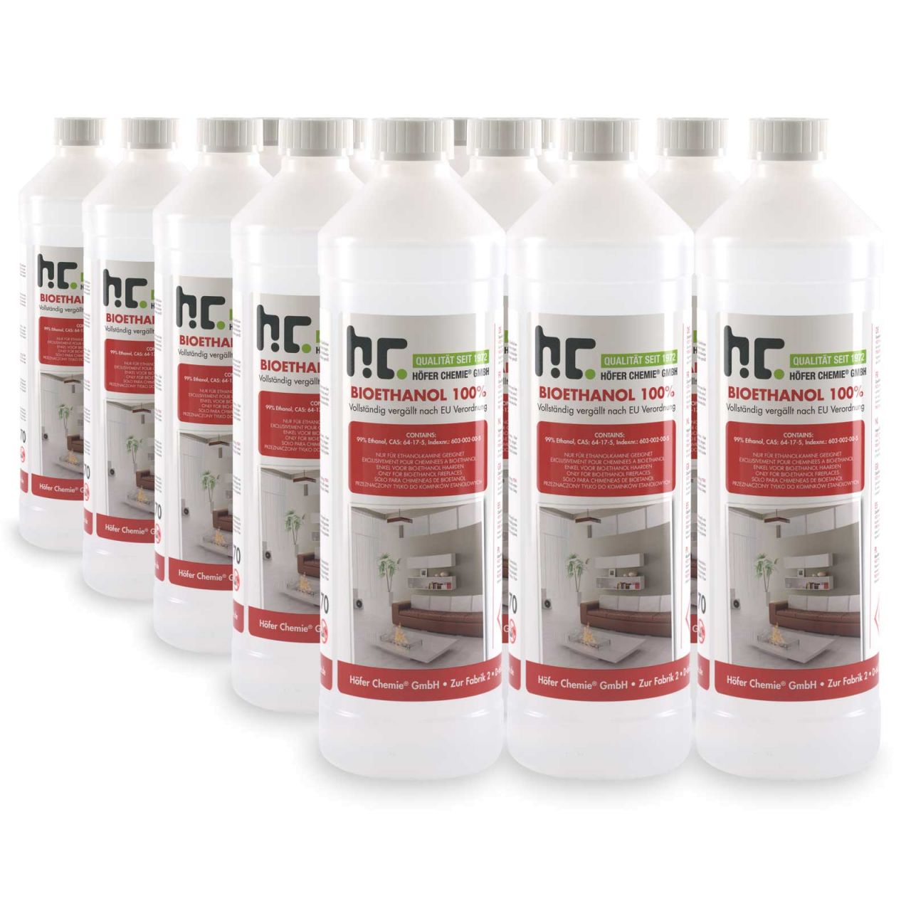15 x 1 L Bioethanol 100%
